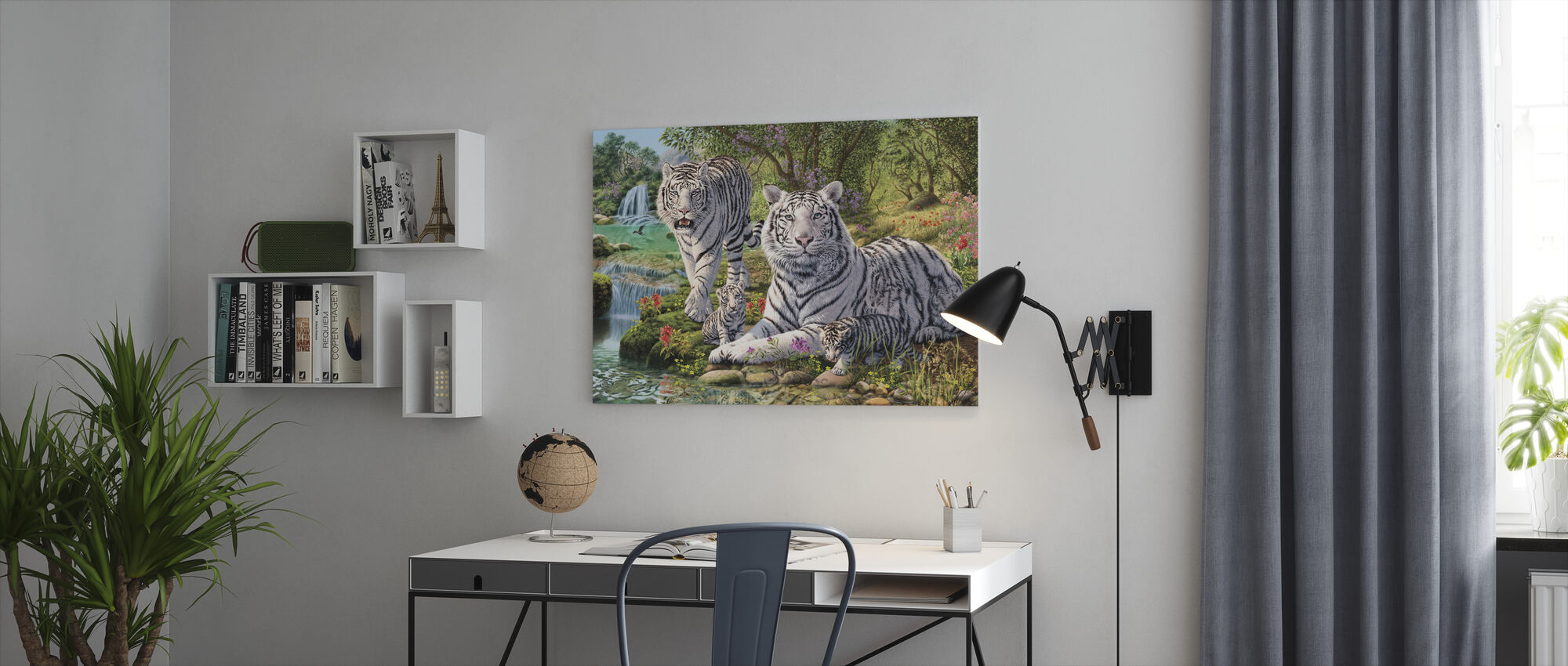 White Tiger Clan - Canvas print - Office