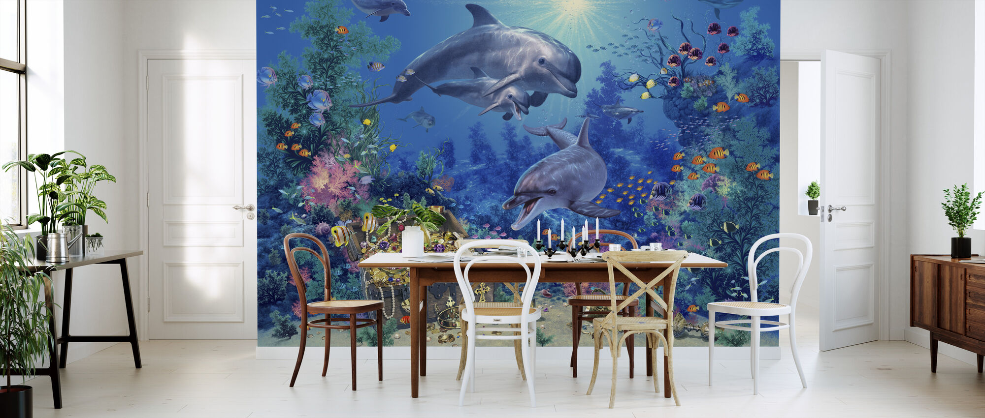 Dolphin Family - Wallpaper - Kitchen