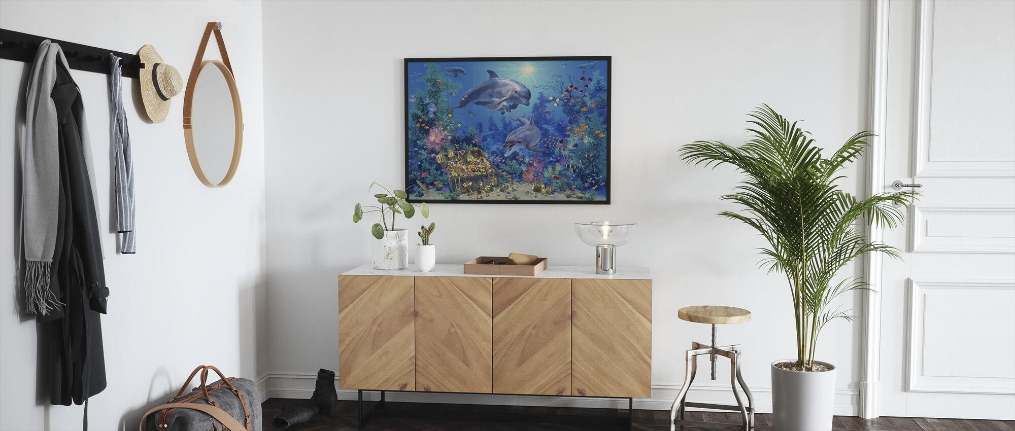 Dolphin Family - Framed print - Hallway