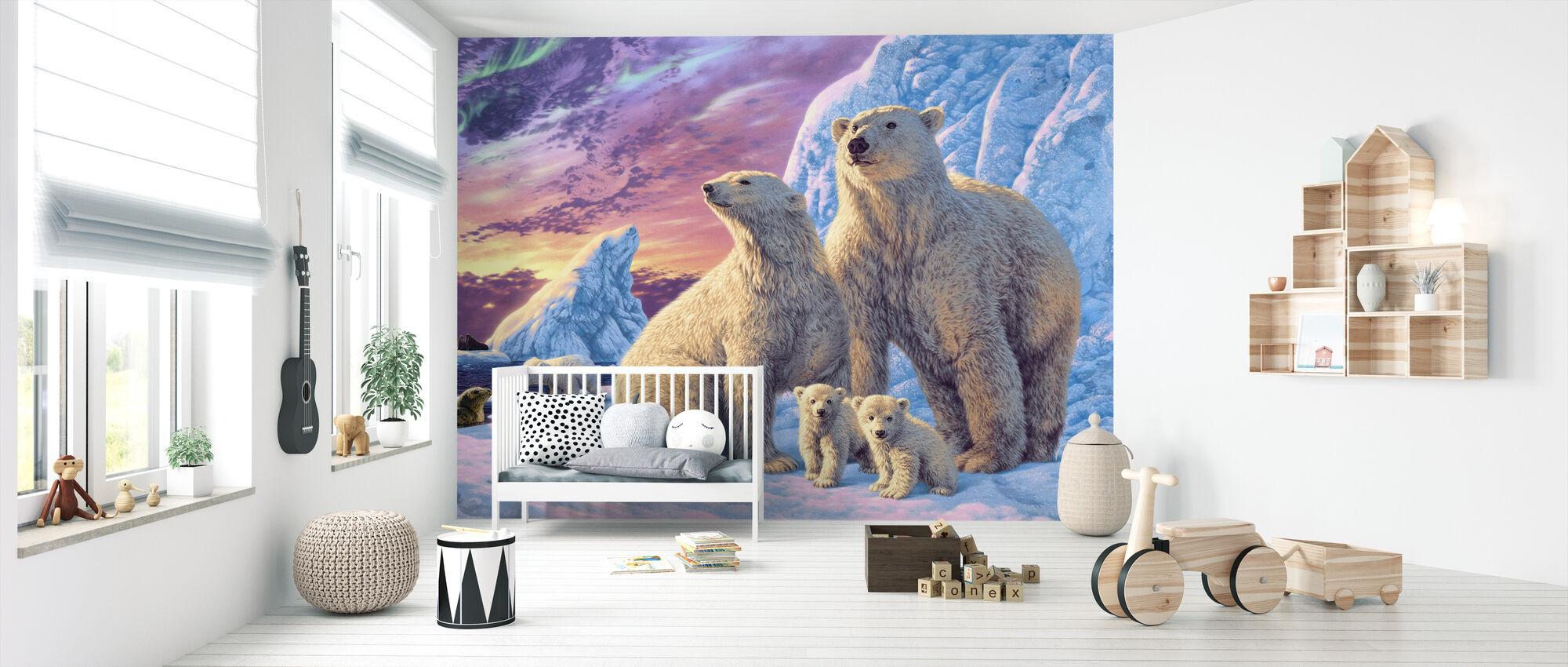 Polar Bears - Wallpaper - Nursery