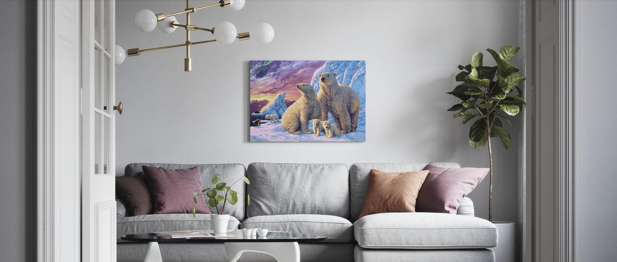 IJsberen - Canvas print - Woonkamer