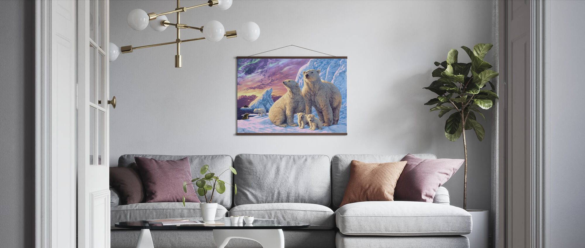 Isbjørn - Plakat - Stue