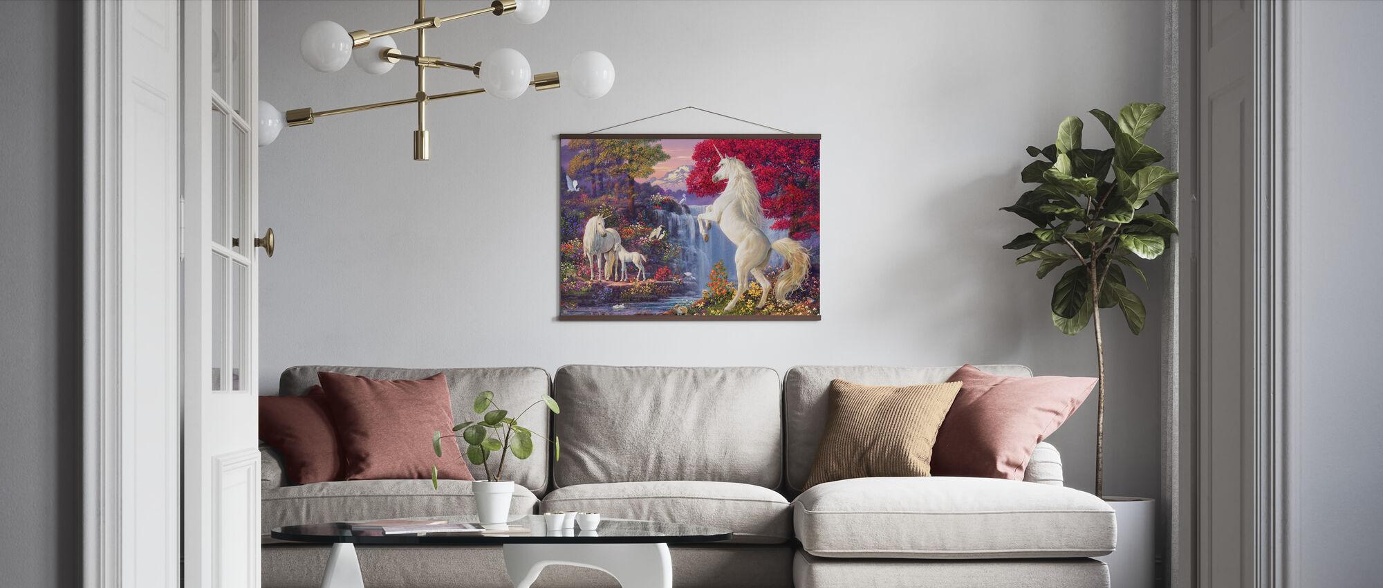Enhörningen faller - Poster - Vardagsrum