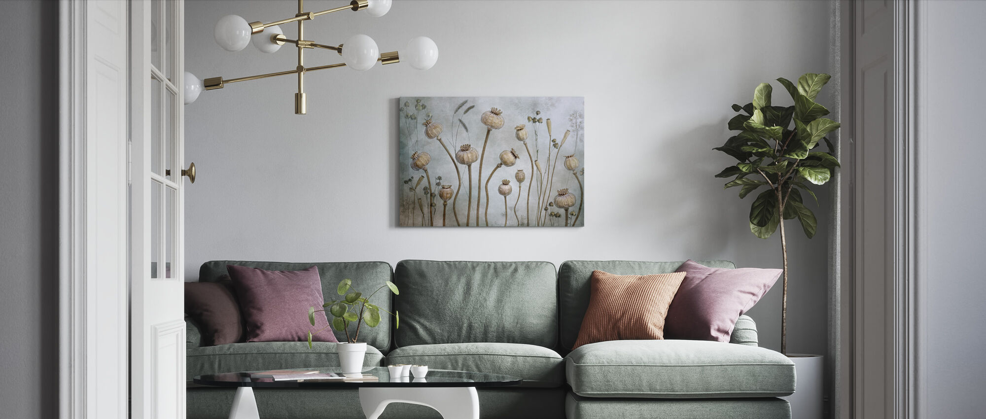 Papaver - Canvas print - Living Room
