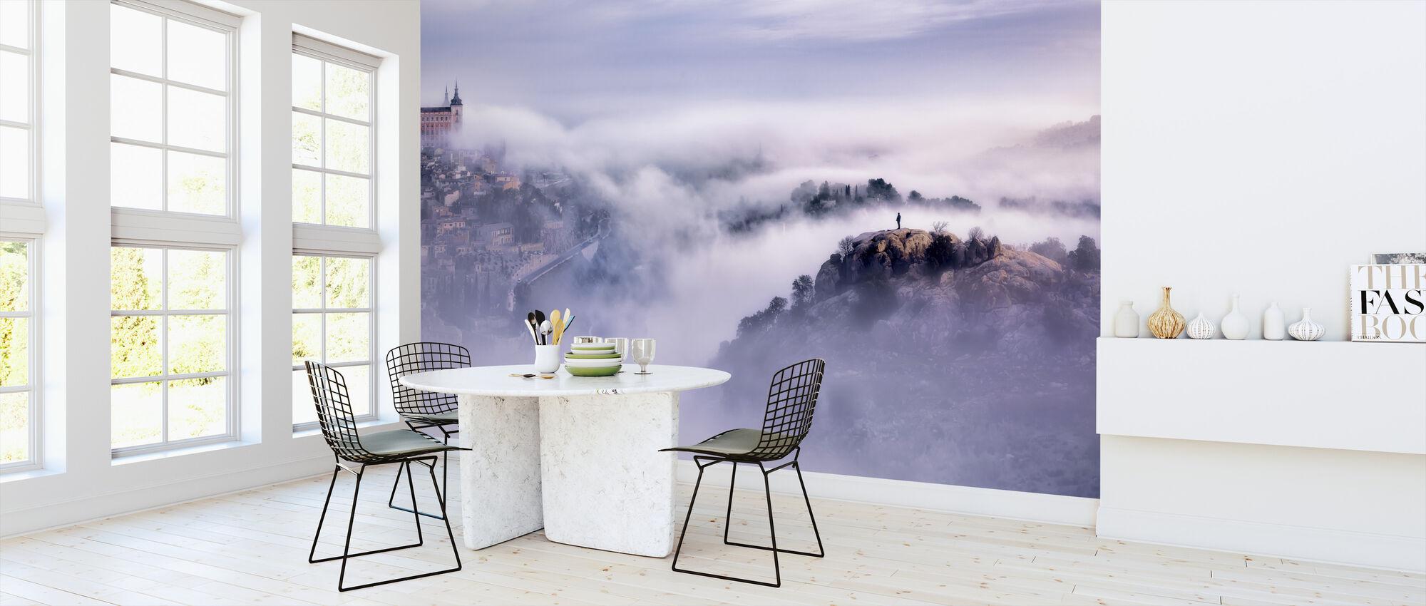 Toledo City Foggy Morning - Wallpaper - Kitchen