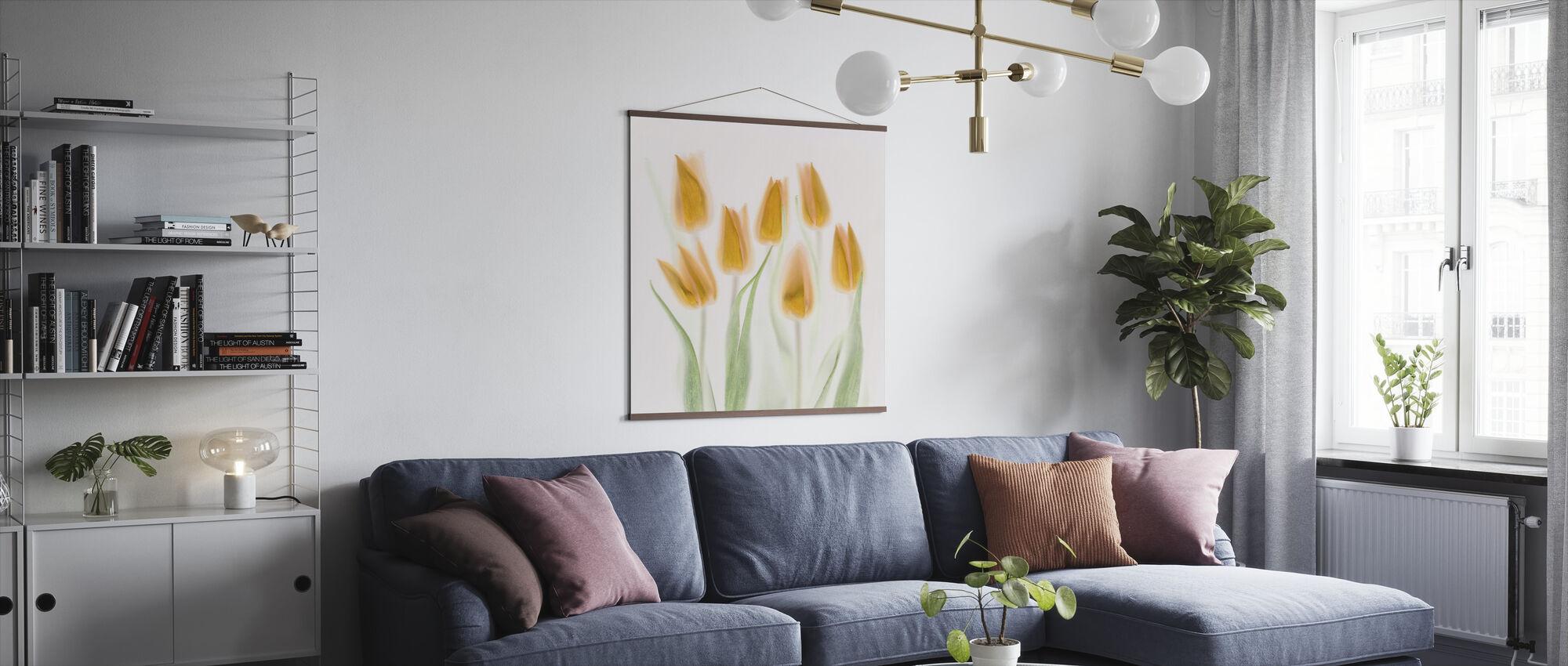 Gouden Tulpen - Poster - Woonkamer