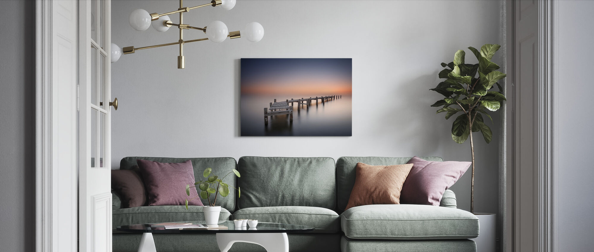 Old Pier - Canvas print - Living Room