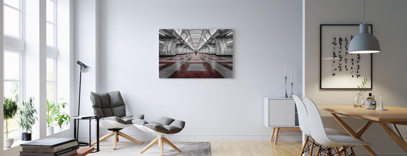 Prag Metro - Canvastavla - Vardagsrum