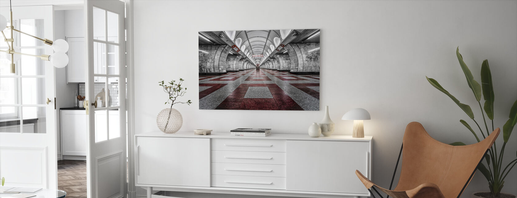 Prague Metro - Canvas print - Living Room