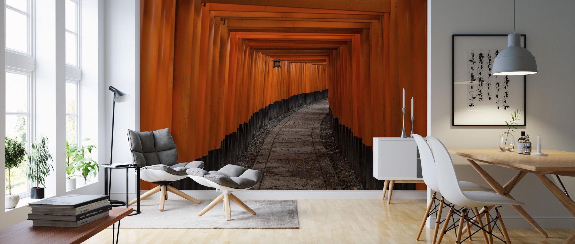 Japan Tunnel - Wallpaper - Living Room