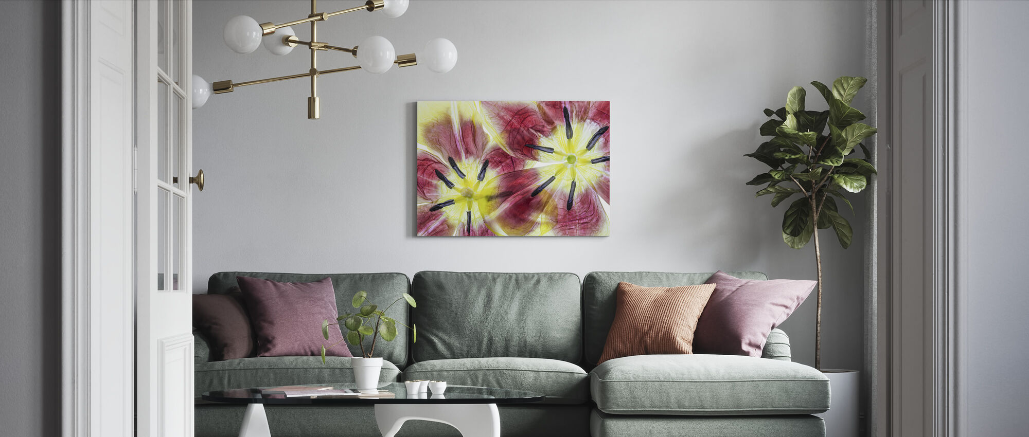 Tulips - Canvas print - Living Room