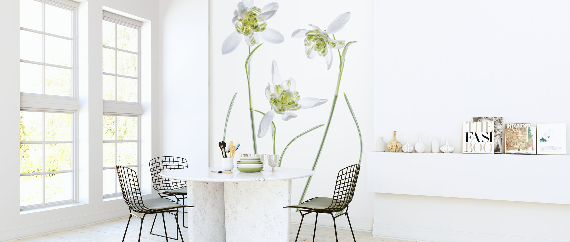Galanthus Flore Pleno - Wallpaper - Kitchen