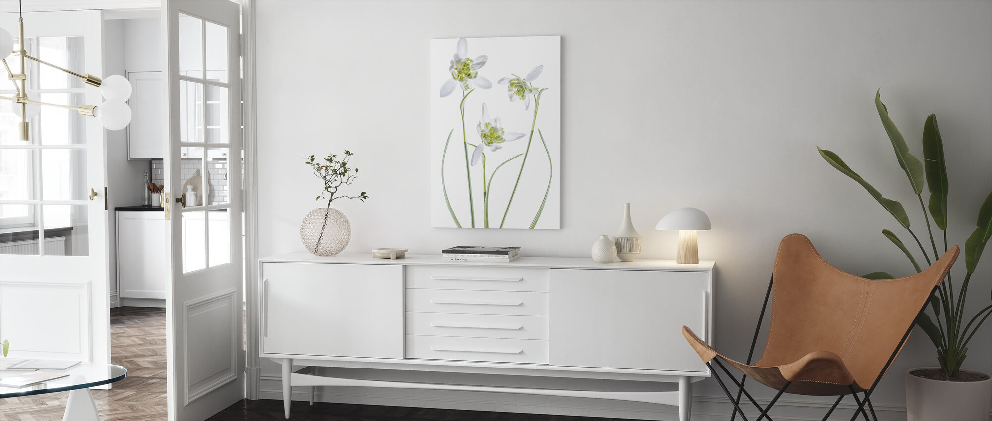 Galanthus Flore Pleno - Canvas print - Living Room