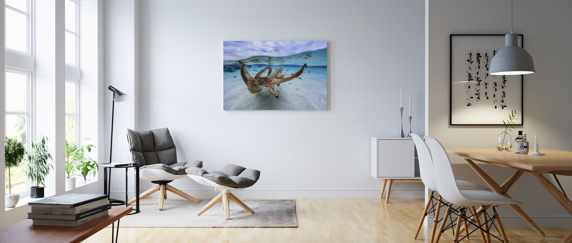 Mustekala - Canvastaulu - Olohuone