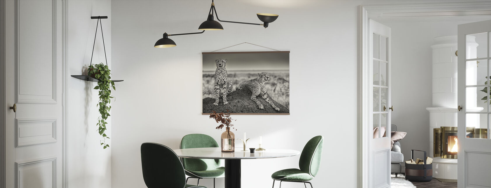 Two Cheetahs Watching Out - Poster - Kitchen