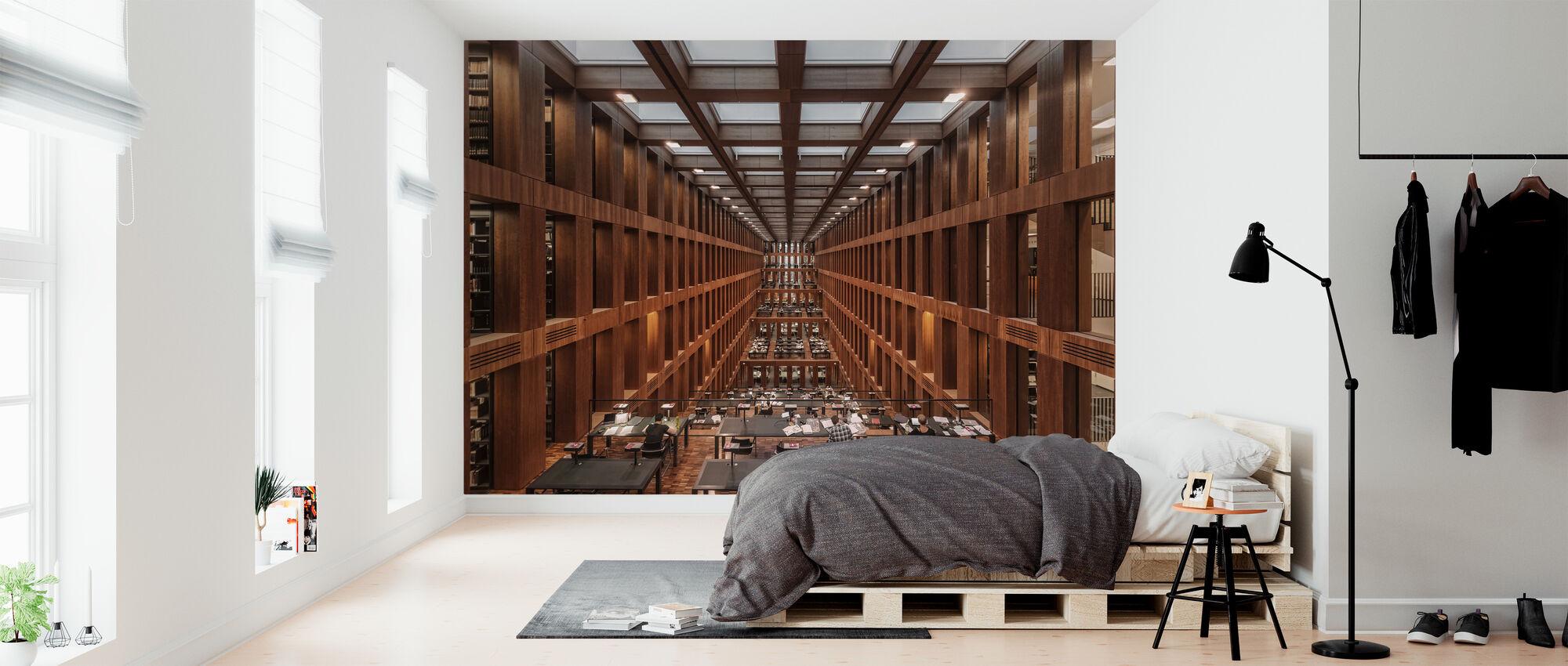 Bibliotek i Berlin - Tapet - Sovrum