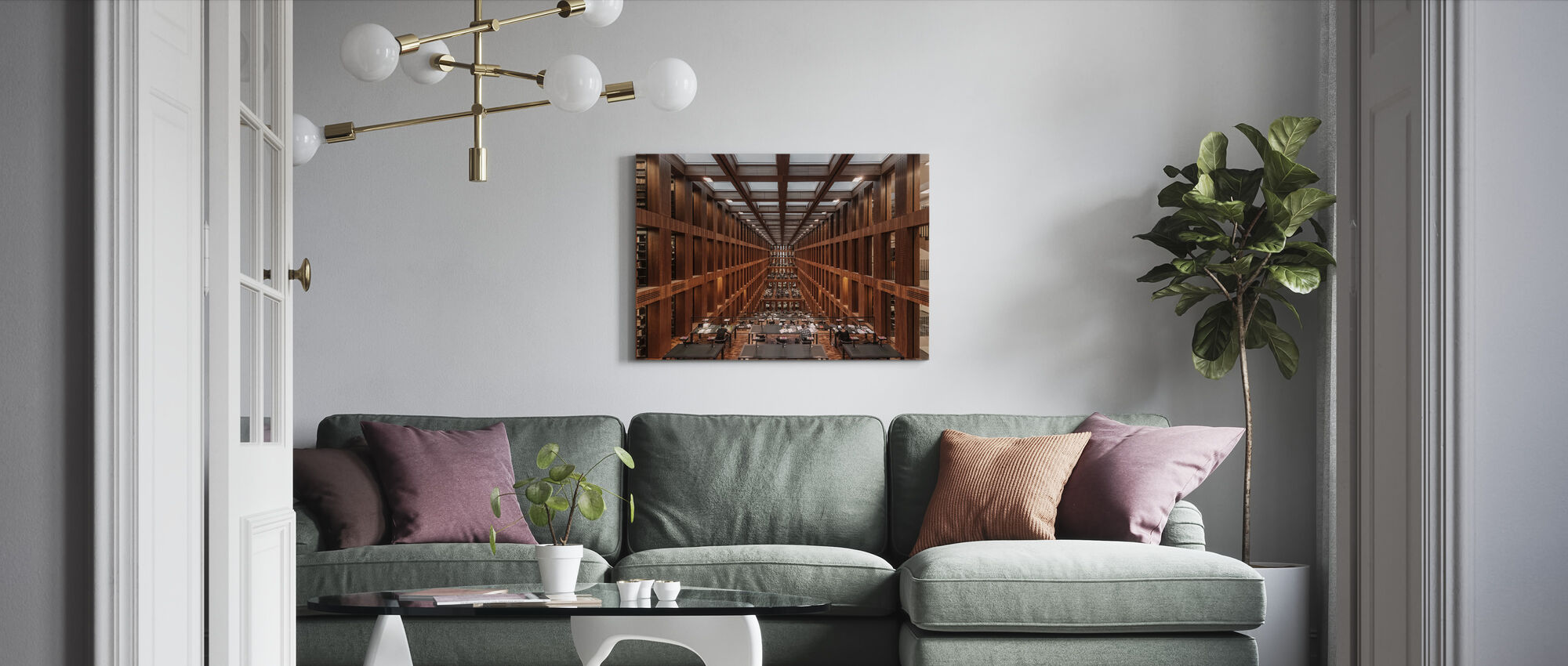 Library in Berlin - Canvas print - Living Room
