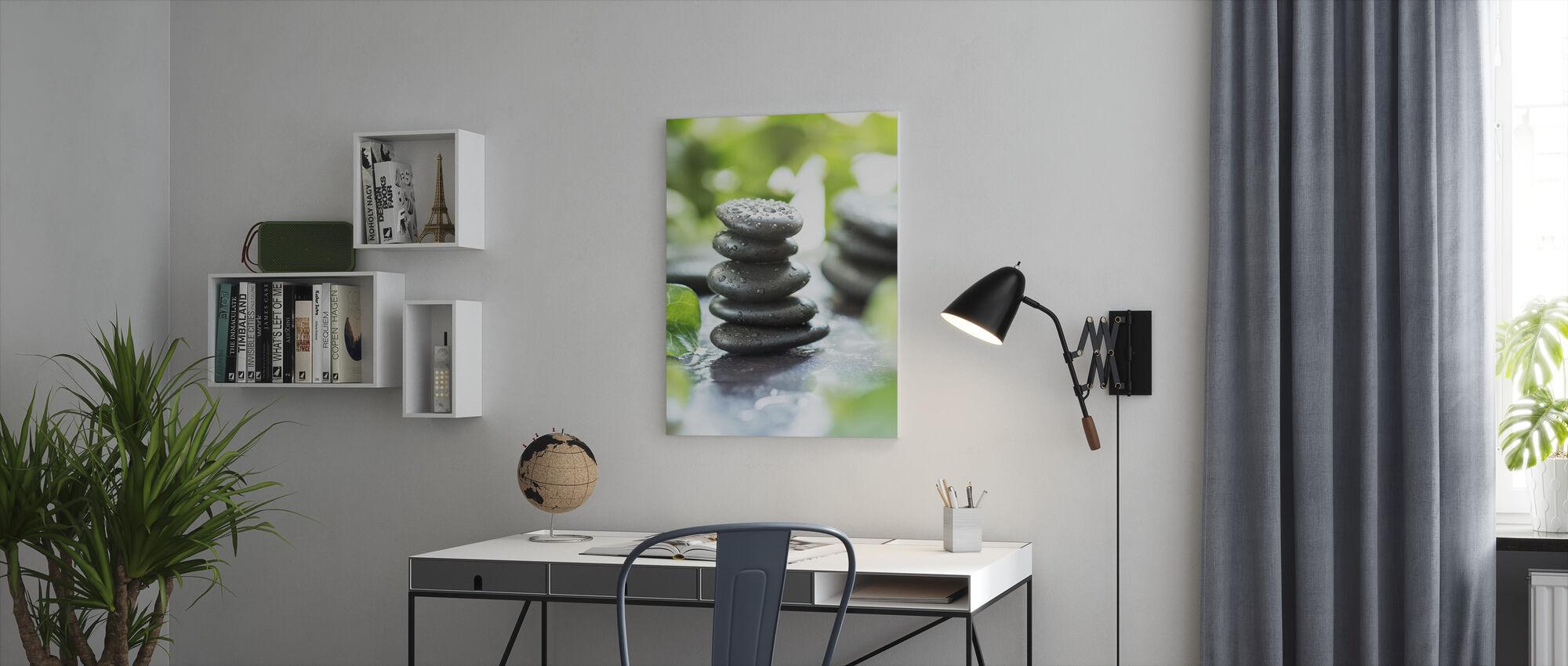 Zen Pebbles - Canvas print - Office