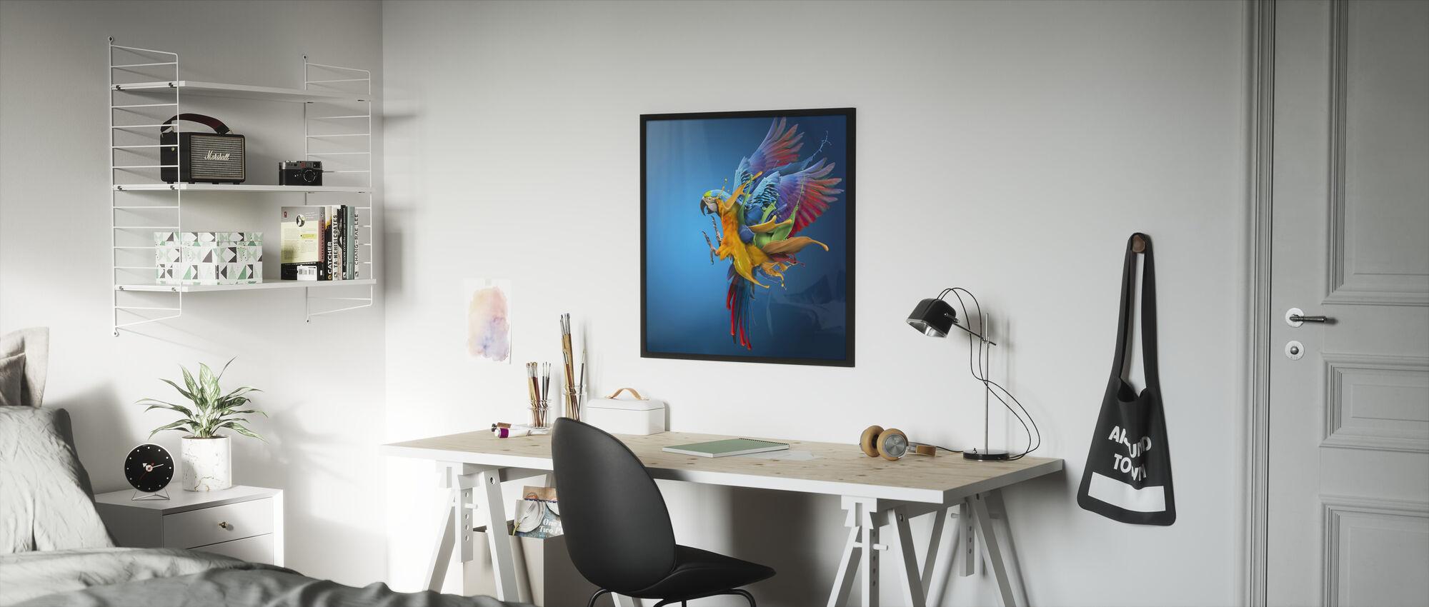 Flygende farger - Innrammet bilde - Barnerom
