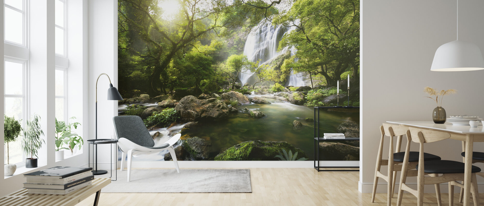 Mountain Stream - Wallpaper - Living Room