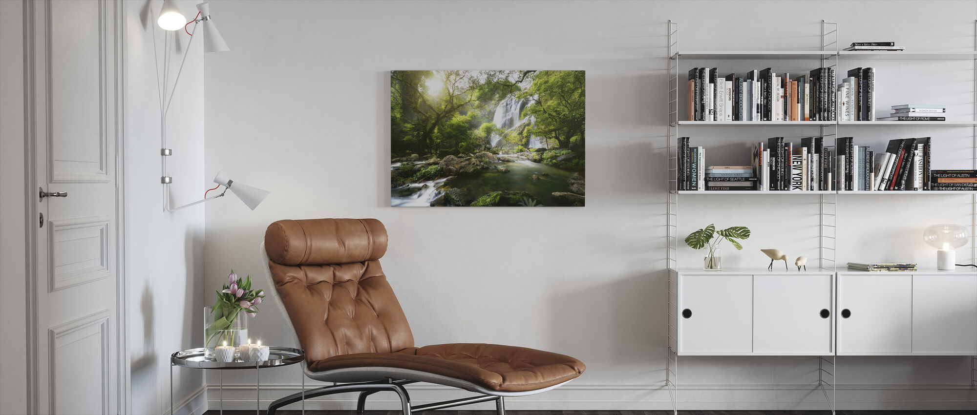 Mountain Stream - Canvas print - Living Room