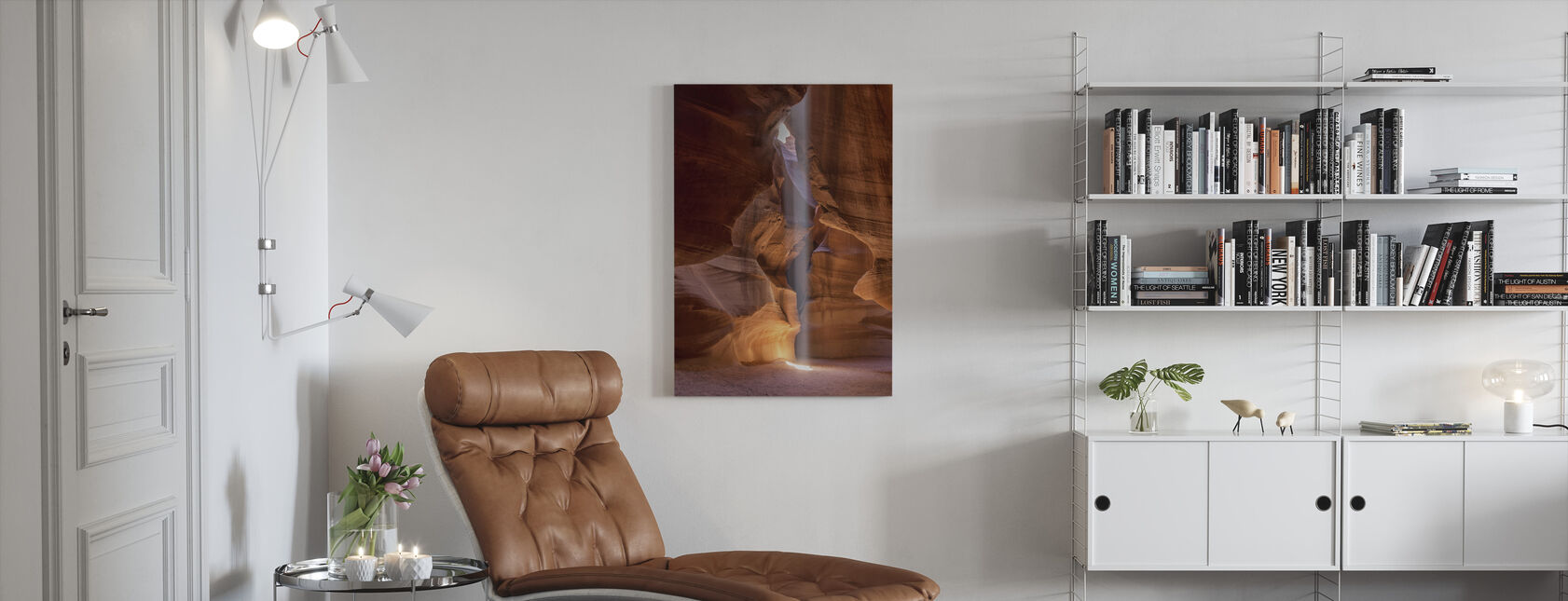 De lichtstraal - Canvas print - Woonkamer
