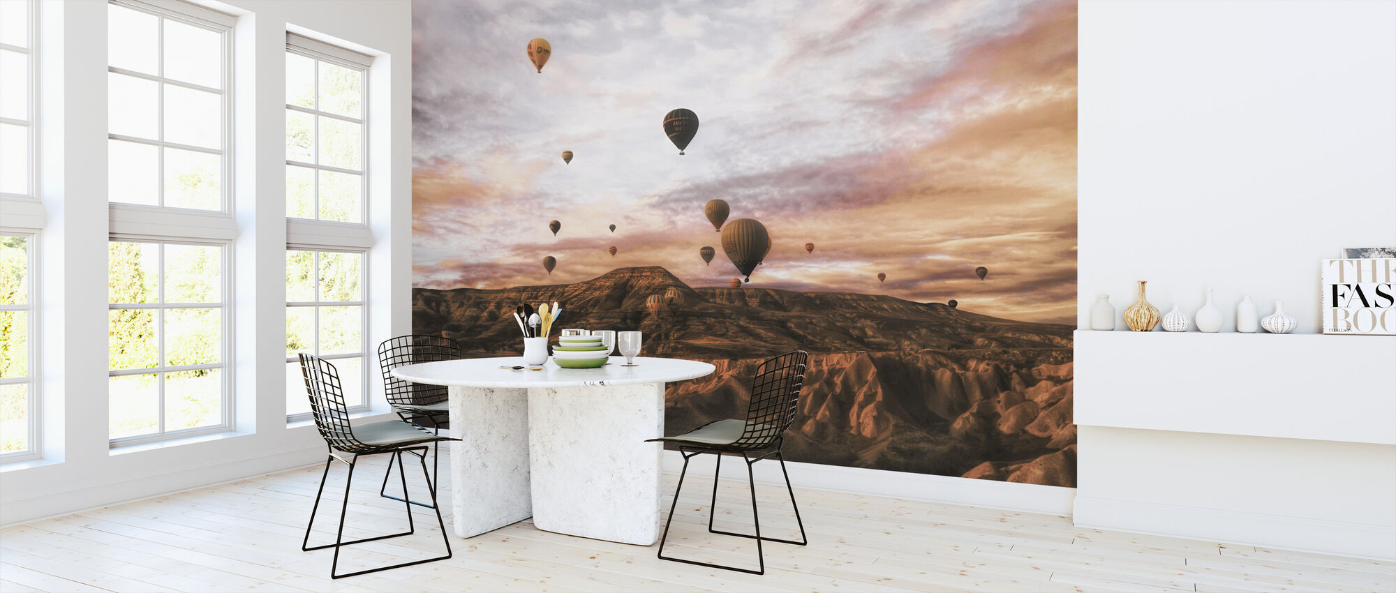 Cappodocia varm luft ballon - Tapet - Køkken