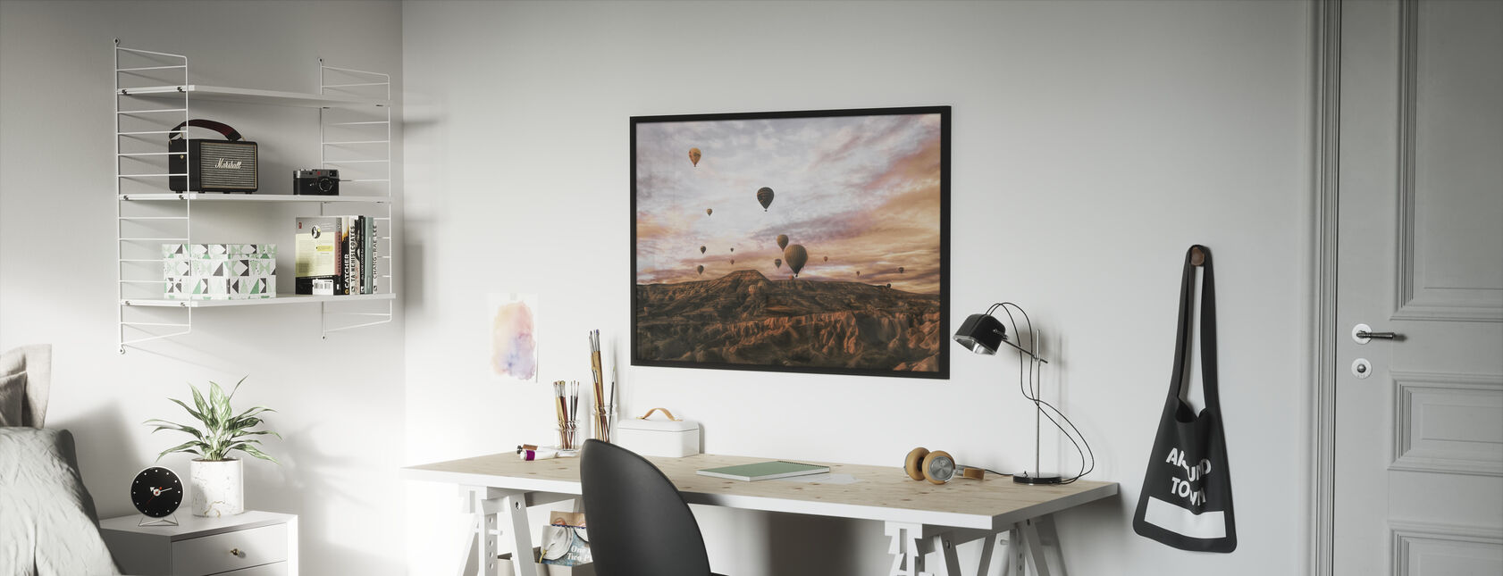 Cappodocia Hot Air Balloon - Framed print - Kids Room