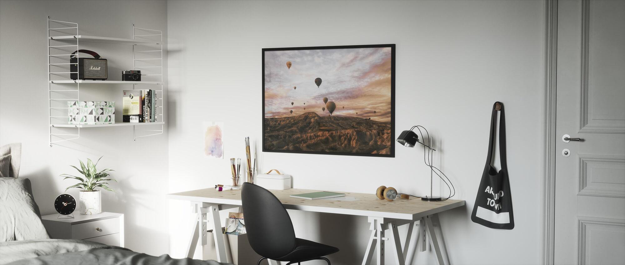 Cappodocia Hot Air Balloon - Framed print - Kids Room