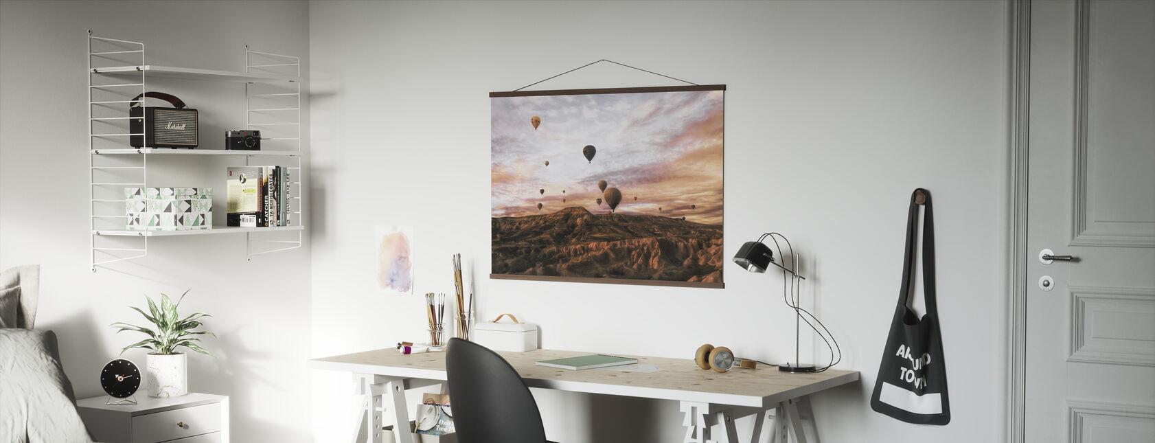 Cappodocia Hete Luchtballon - Poster - Kantoor