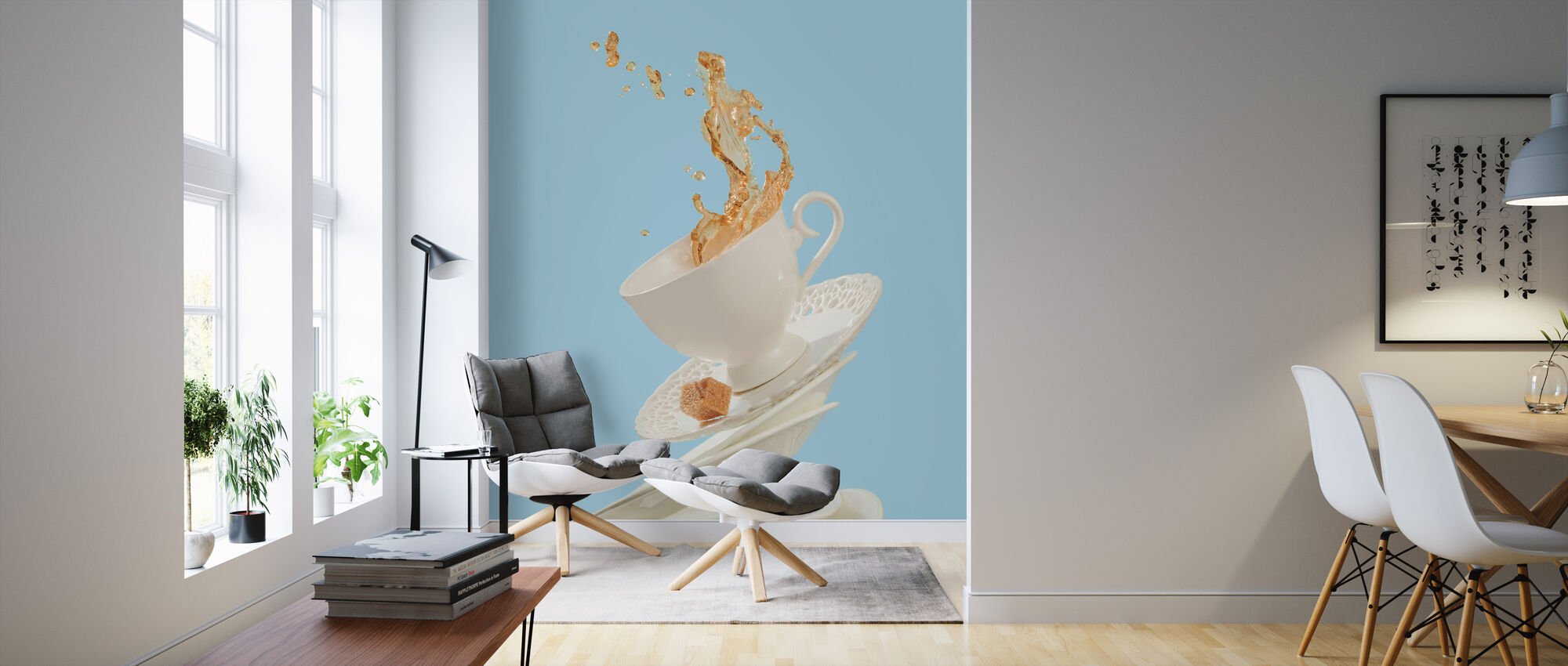 Coffee for a Stage Magician - Wallpaper - Living Room