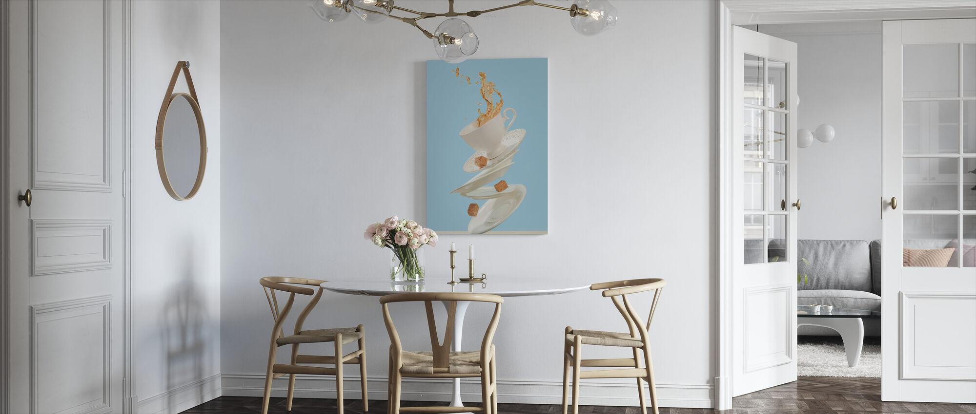 Koffie voor een podium goochelaar - Canvas print - Keuken