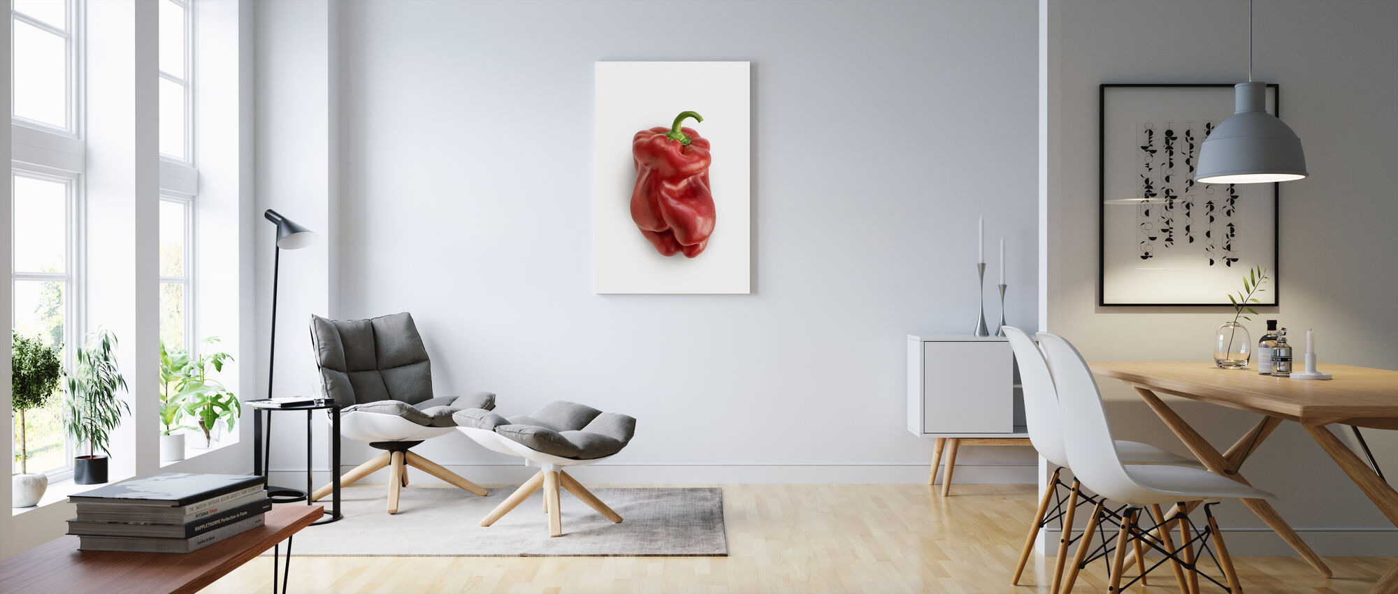 Red on White - Canvas print - Living Room