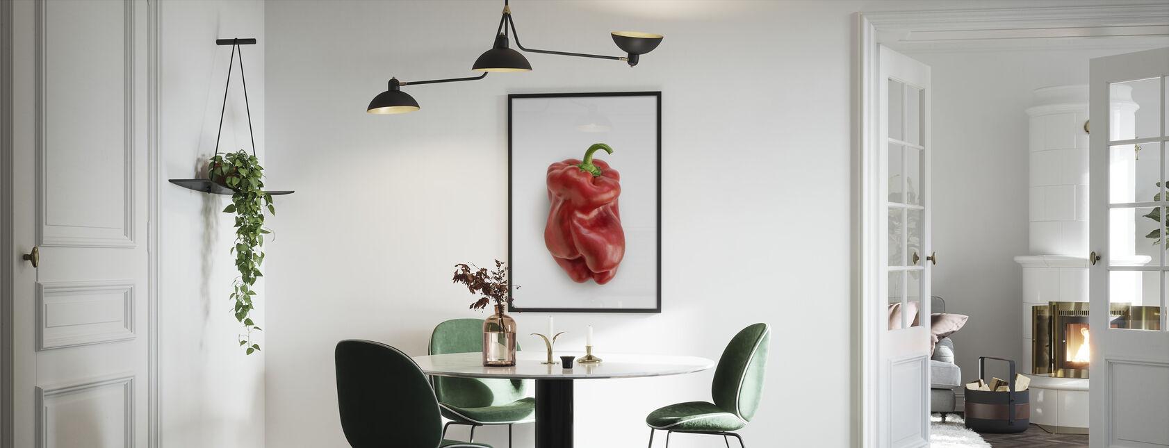 Rouge sur blanc - Impression encadree - Cuisine