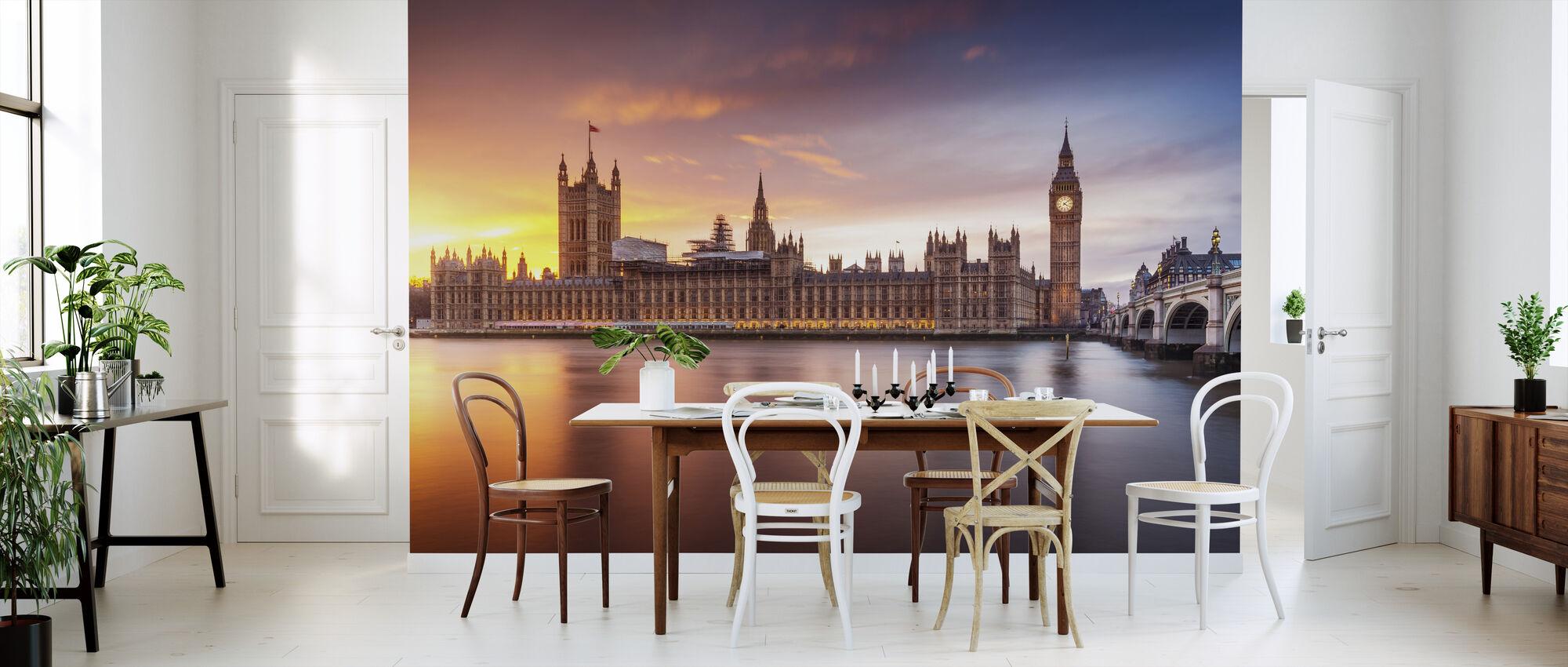 London Palace of Westminster Sunset - Wallpaper - Kitchen