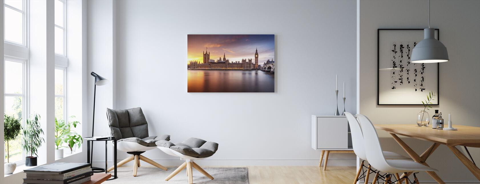 Westminster Sunset - Lerretsbilde - Stue