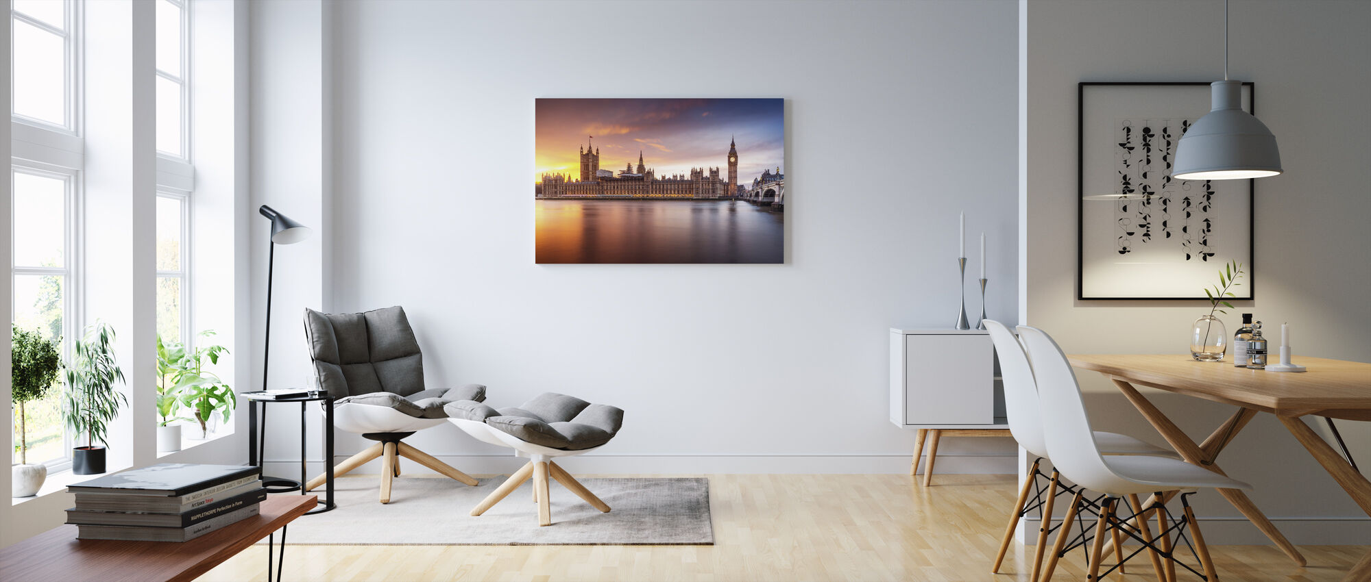 London Palace of Westminster Sunset - Canvas print - Living Room