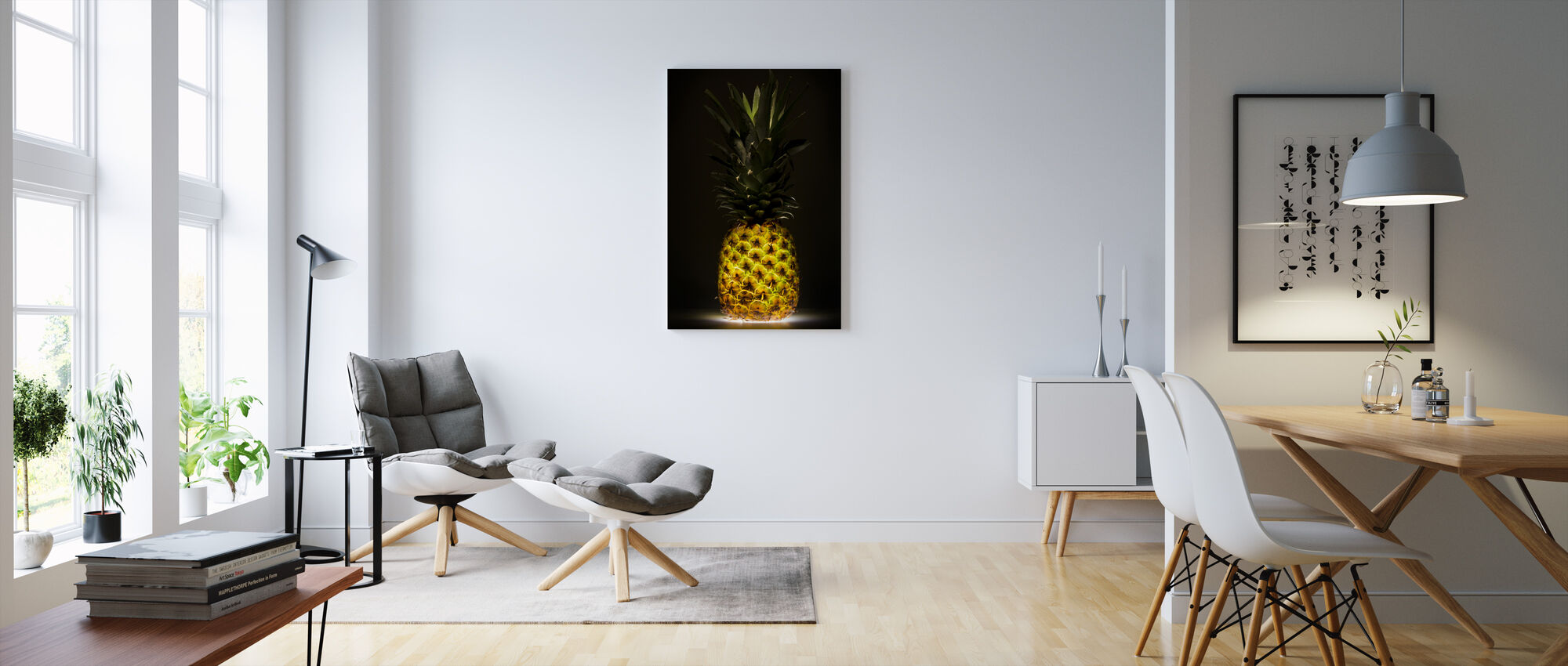 Pineapple - Canvas print - Living Room