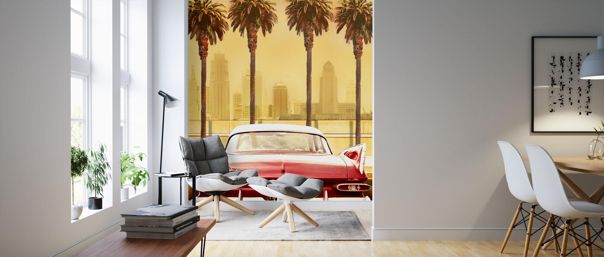 Plymouth Savoy kanssa Palms - Tapetti - Olohuone