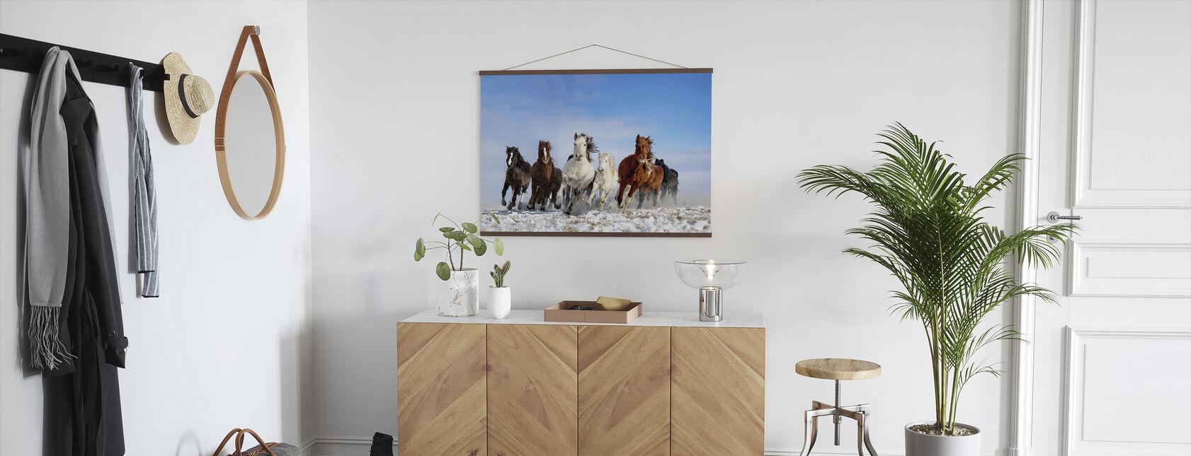 Mongolië Paarden - Poster - Gang