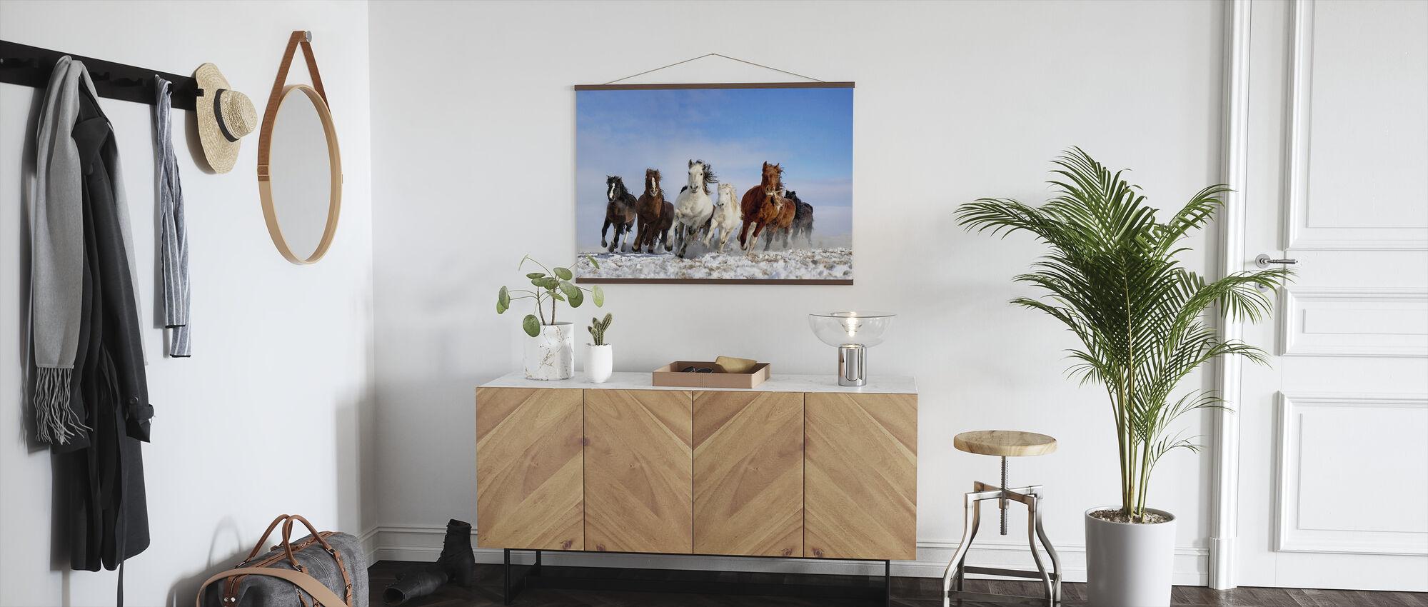 Mongoliet Hästar - Poster - Hall