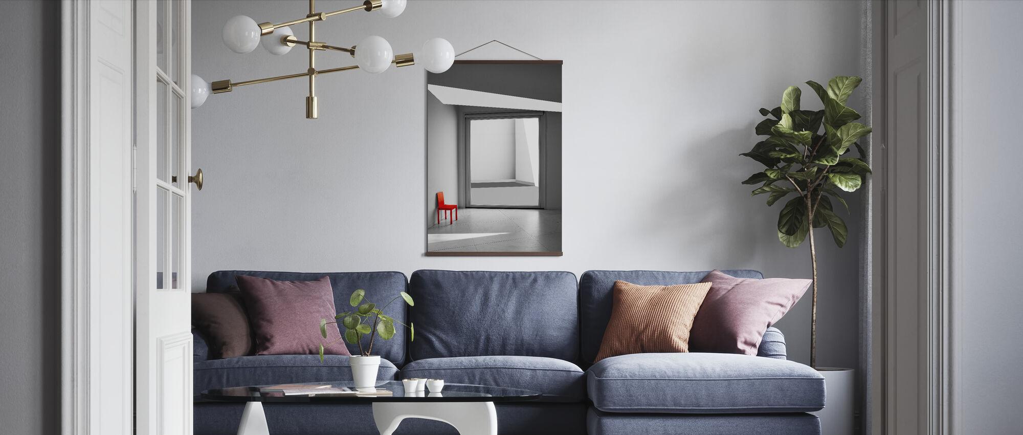 Den röda stolen - Poster - Vardagsrum