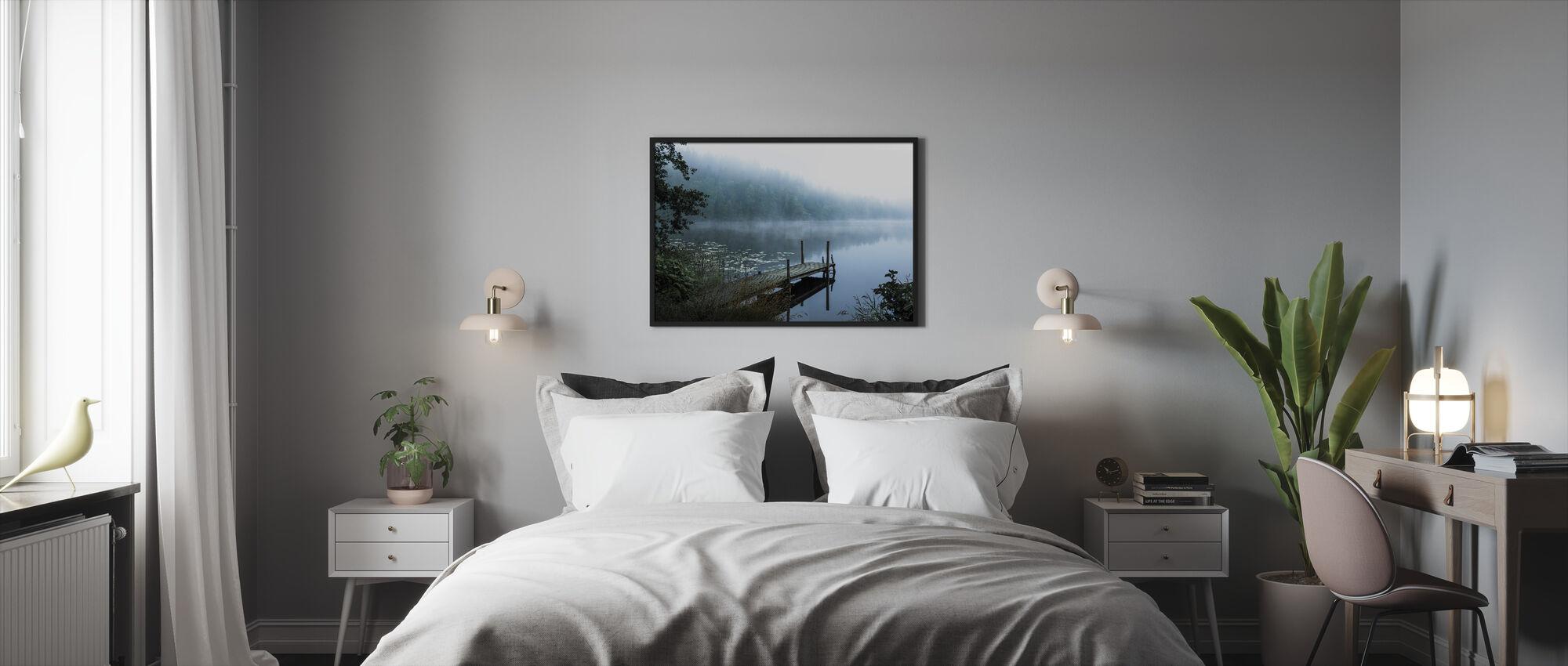 Moody Aamu - Kehystetty kuva - Makuuhuone