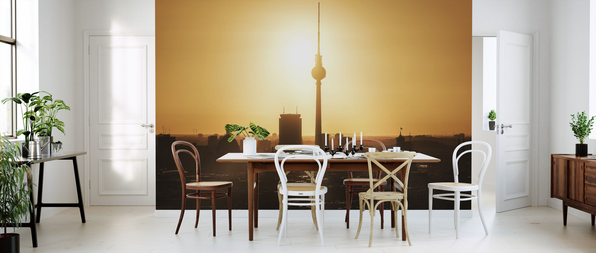 Berlin - Skyline Sunrise - Wallpaper - Kitchen