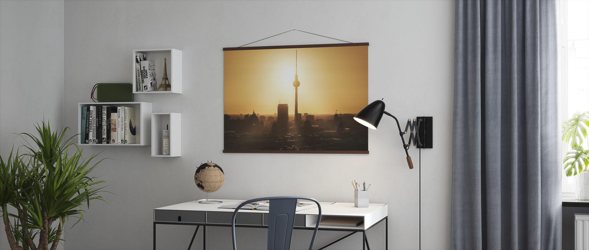 Berliini - Skyline Sunrise - Juliste - Toimisto