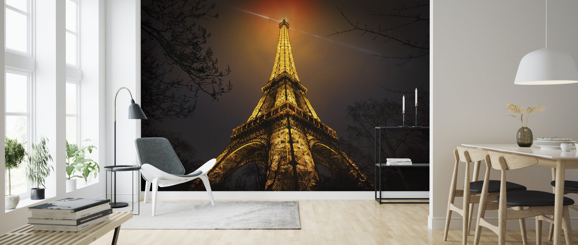 La Tour Eiffel - Wallpaper - Living Room