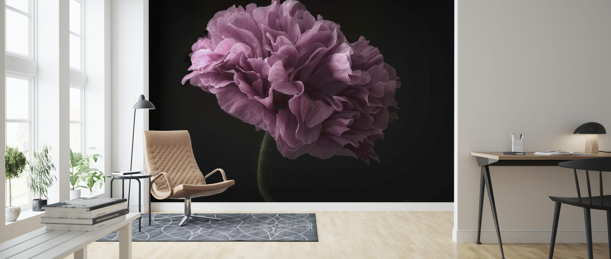 Poppy - Wallpaper - Living Room