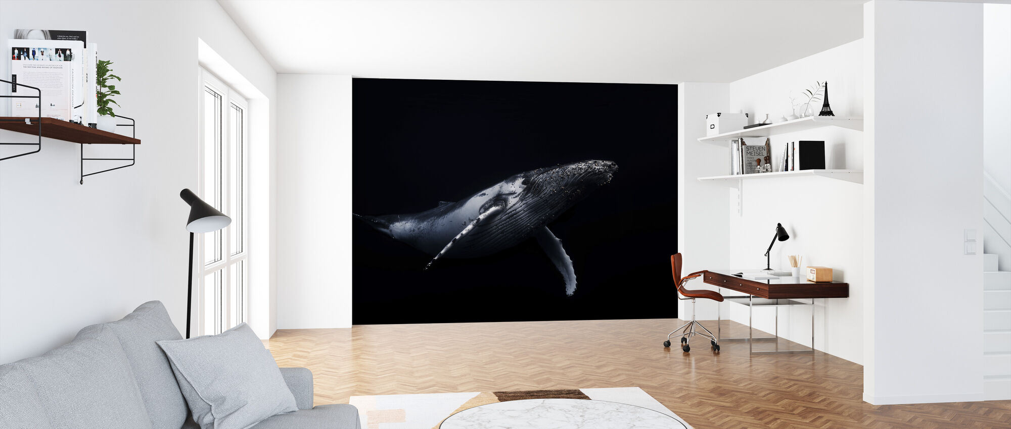 Black and Whale - Wallpaper - Office
