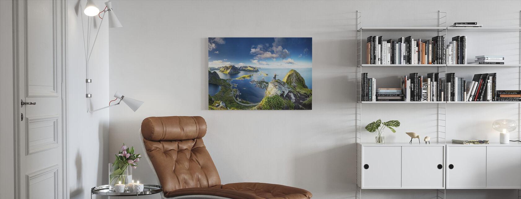 Bringing Views - Canvas print - Living Room