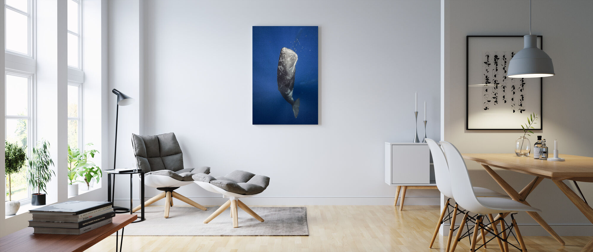 Candle Sperm Whale - Canvas print - Living Room